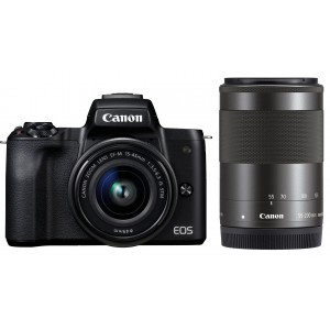 Canon EOS M50 15-45 IS STM + 55-200 IS STM (Black)