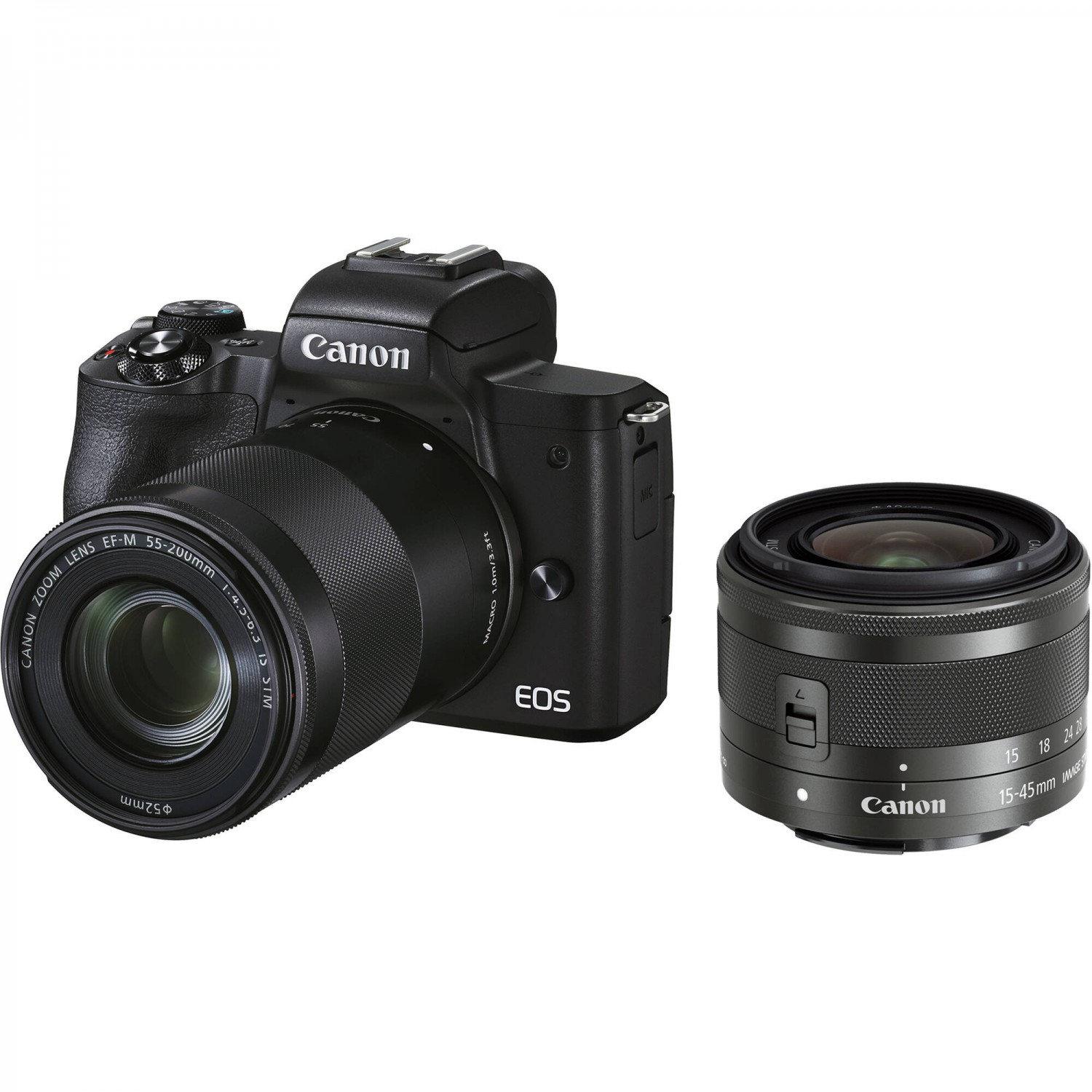 Canon EOS M50 Mark II 15-45 IS STM + 55-200 IS STM (Black)